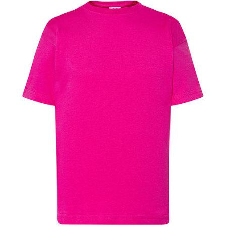 Kids` T-Shirt in Fuchsia von JHK (Artnum: JHK150K