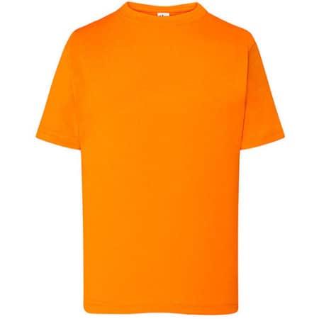 Kids` T-Shirt in Orange von JHK (Artnum: JHK150k