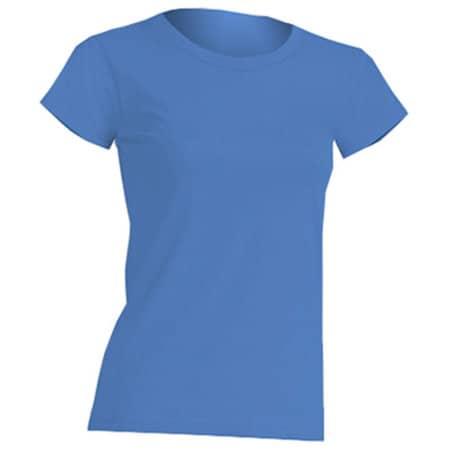 Regular Lady Comfort T-Shirt in Azure von JHK (Artnum: JHK152
