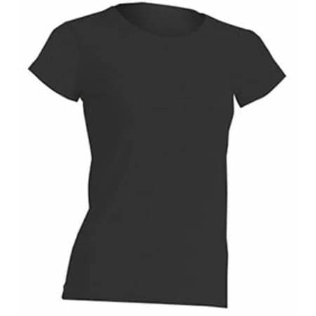 Regular Lady Comfort T-Shirt in Black von JHK (Artnum: JHK152
