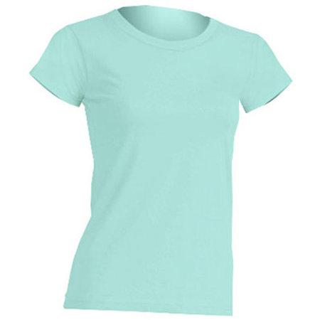 Regular Lady Comfort T-Shirt in Mint Green von JHK (Artnum: JHK152