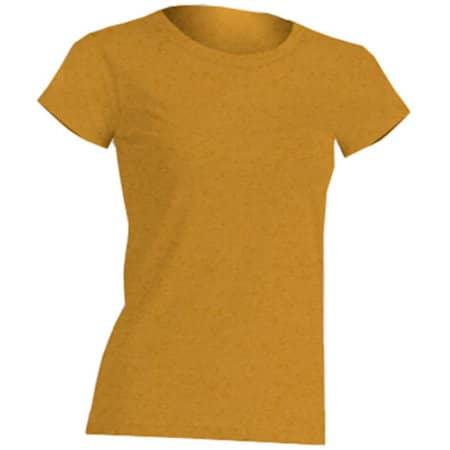 Regular Lady Comfort T-Shirt in Mustard Heather von JHK (Artnum: JHK152
