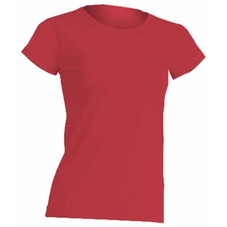 Regular Lady Comfort T-Shirt in Red von JHK (Artnum: JHK152