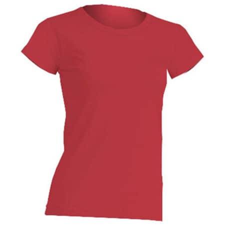 Regular Lady Comfort T-Shirt in Red von JHK (Artnum: JHK152