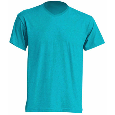 Urban V-Neck in Turquoise Heather von JHK (Artnum: JHK270