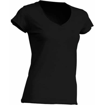 Ladies` V-Neck Sicilia in Black von JHK (Artnum: JHK271