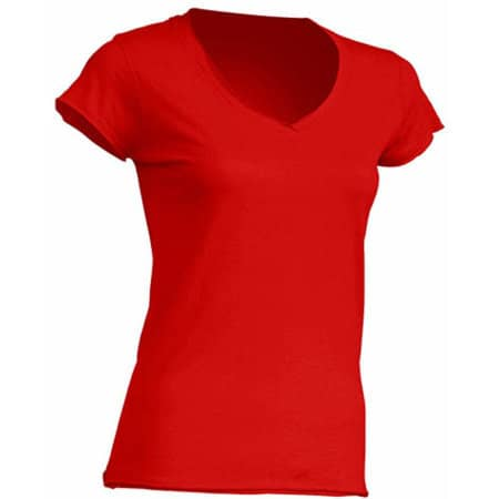 Ladies` V-Neck Sicilia in Red von JHK (Artnum: JHK271