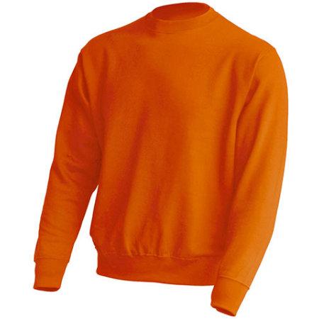 Crew Neck Sweatshirt JHK320 in Orange von JHK (Artnum: JHK320