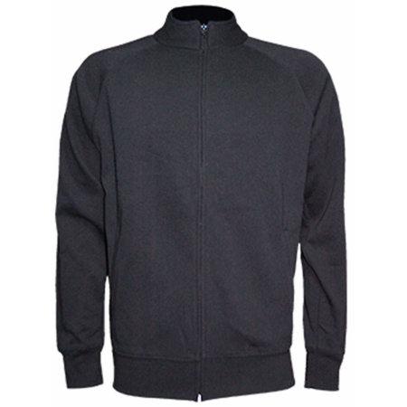 Full Zip Sweatshirt in Charcoal von JHK (Artnum: JHK401