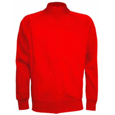 Full Zip Sweatshirt in Red von JHK (Artnum: JHK401