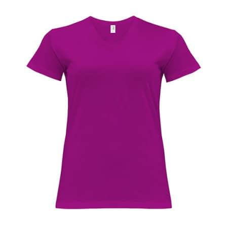 Curves T-Shirt V-Neck Lady von JHK (Artnum: JHK604