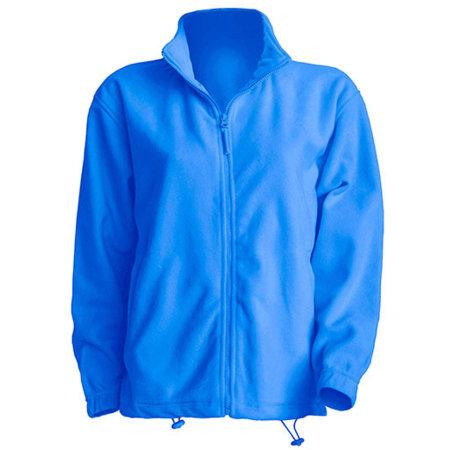 Men Fleece Jacket in Aqua von JHK (Artnum: JHK800