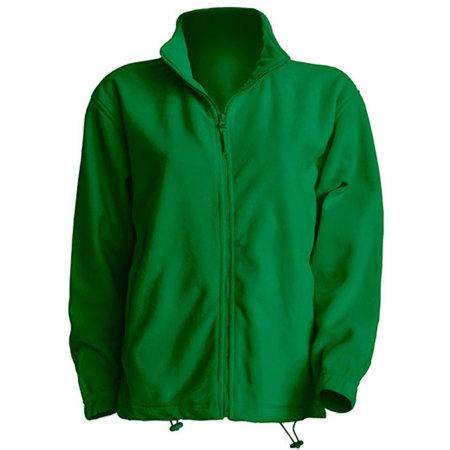 Men Fleece Jacket in Kelly Green von JHK (Artnum: JHK800