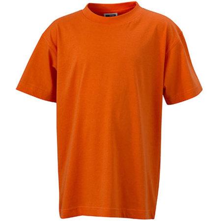 Junior Basic-T in Dark Orange von James+Nicholson (Artnum: JN019
