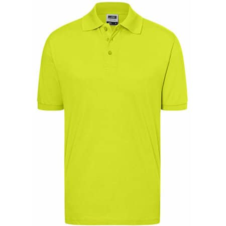 Classic Polo in Acid Yellow von James+Nicholson (Artnum: JN070