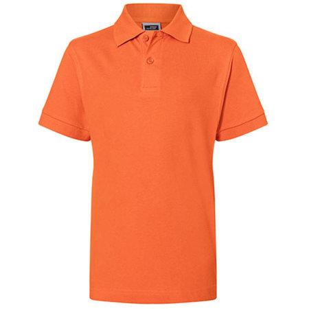 Classic Polo Junior in Dark Orange von James+Nicholson (Artnum: JN070K