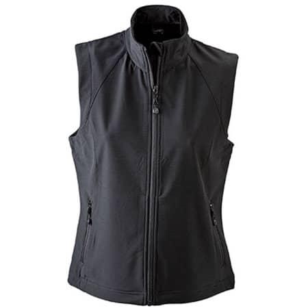Ladies` Softshell Vest in Black von James+Nicholson (Artnum: JN1023