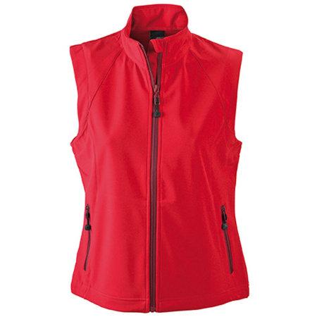 Ladies` Softshell Vest in Red von James+Nicholson (Artnum: JN1023