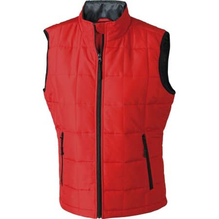 Ladies` Padded Light Weight Vest von James+Nicholson (Artnum: JN1036