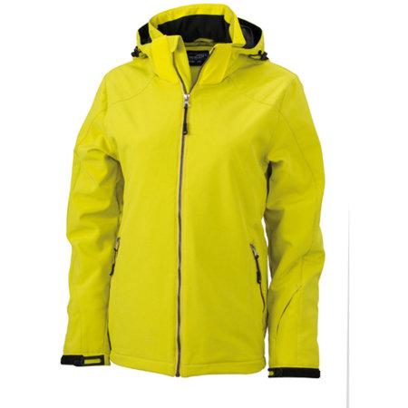 Ladies` Wintersport Softshell in Yellow von James+Nicholson (Artnum: JN1053
