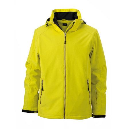 Men`s Wintersport Softshell in Yellow von James+Nicholson (Artnum: JN1054