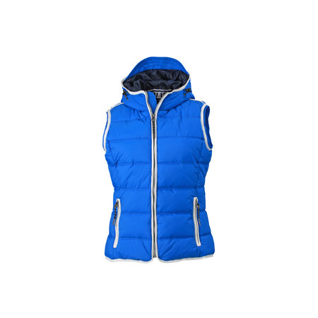 Ladies` Maritime Vest in Nautic Blue|White von James+Nicholson (Artnum: JN1075