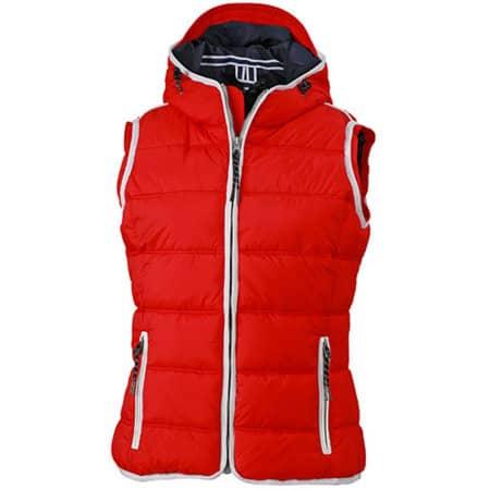 Ladies` Maritime Vest in Red|White von James+Nicholson (Artnum: JN1075