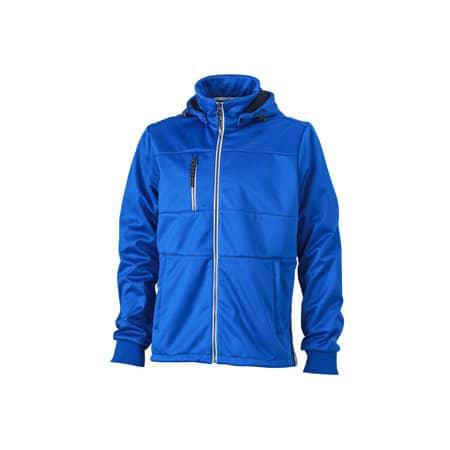 Men`s Maritime Softshell-Jacket in Nautic Blue Navy White von James+Nicholson (Artnum: JN1078