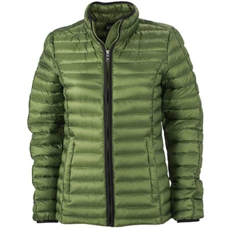 Ladies` Quilted Down Jacket von James+Nicholson (Artnum: JN1081