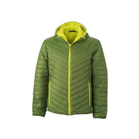 Men`s Lightweight Jacket in Jungle-Green Acid Yellow von James+Nicholson (Artnum: JN1092