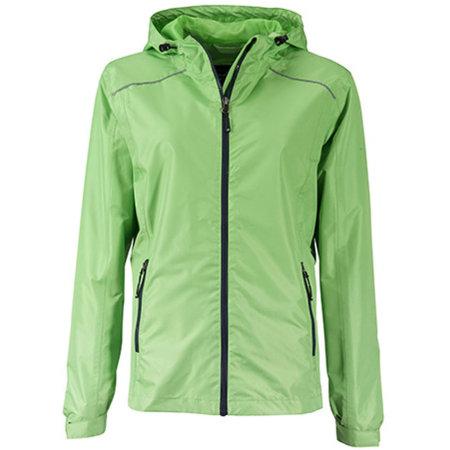 Ladies` Rain Jacket in Spring Green Navy von James+Nicholson (Artnum: JN1117