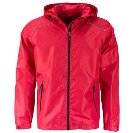 Men`s` Rain Jacket in Red|Black von James+Nicholson (Artnum: JN1118