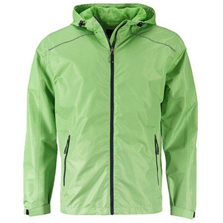 Men`s` Rain Jacket in Spring Green Navy von James+Nicholson (Artnum: JN1118