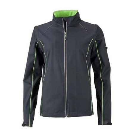 Ladies` Zip-Off Softshell Jacket von James+Nicholson (Artnum: JN1121