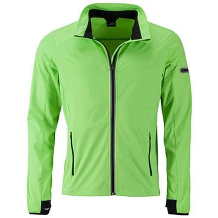 Men`s Sports Softshell Jacket in Bright Green Black von James+Nicholson (Artnum: JN1126