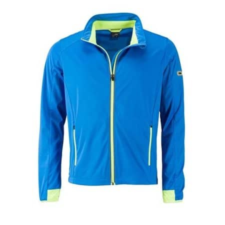 Men`s Sports Softshell Jacket von James+Nicholson (Artnum: JN1126