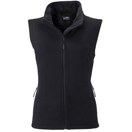 Ladies` Promo Softshell Vest in Black|Black von James+Nicholson (Artnum: JN1127