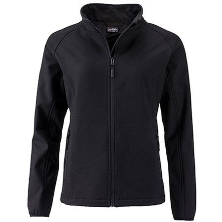 Ladies` Promo Softshell Jacket in Black Black von James+Nicholson (Artnum: JN1129