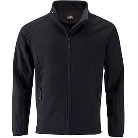Men`s Promo Softshell Jacket in Black|Black von James+Nicholson (Artnum: JN1130