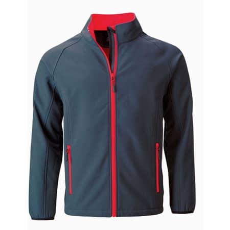 Men`s Promo Softshell Jacket in Iron Grey|Red von James+Nicholson (Artnum: JN1130