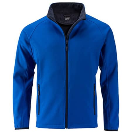 Men`s Promo Softshell Jacket in Nauticblue|Navy von James+Nicholson (Artnum: JN1130