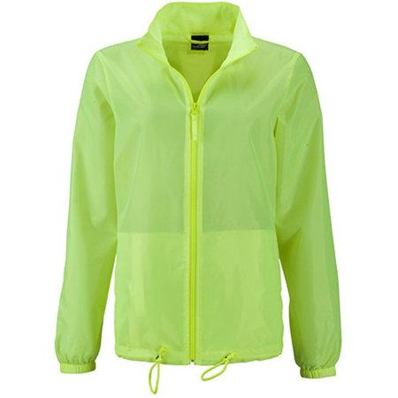 Ladies` Promo Jacket in Bright Yellow von James+Nicholson (Artnum: JN1131