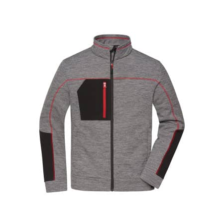 Men`s Structure Fleece Jacket (JN1818) von James+Nicholson (Artnum: JN1818