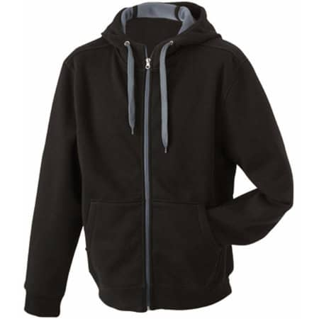 Ladies` Doubleface Jacket in Black|Carbon von James+Nicholson (Artnum: JN354