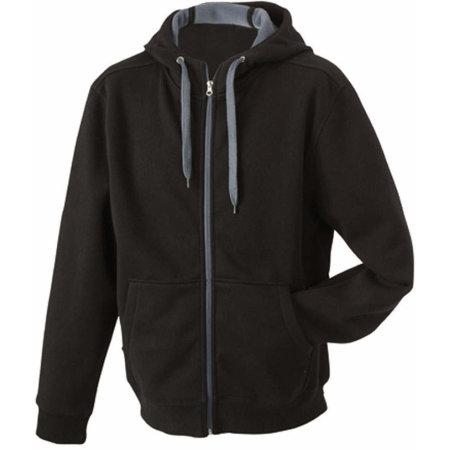 Men`s Doubleface Jacket in Black|Carbon von James+Nicholson (Artnum: JN355