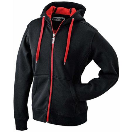 Men`s Doubleface Jacket in Black|Red von James+Nicholson (Artnum: JN355