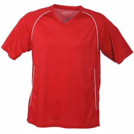 Team Shirt in Red|White von James+Nicholson (Artnum: JN386