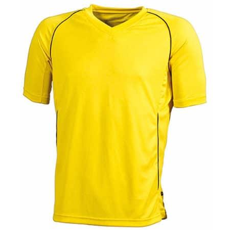 Team Shirt in Yellow Black von James+Nicholson (Artnum: JN386