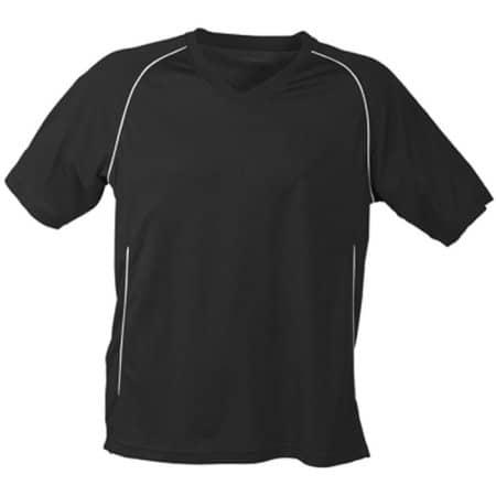 Team Shirt Junior in Black|White von James+Nicholson (Artnum: JN386K