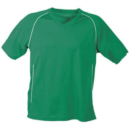 Team Shirt Junior in Green|White von James+Nicholson (Artnum: JN386K